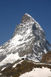 The summit of the Matterhorn Royalty Free Stock Photography