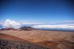 Summit of Mauna Kea. Cinder cones, on Mauna Kea in Hawaii Royalty Free Stock Images