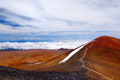 The summit of Mauna Kea, a dormant volcano on the island of Hawaii, USA Stock Photo