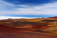 The summit of Mauna Kea, a dormant volcano on the island of Hawaii, USA Royalty Free Stock Image