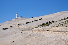 The summit of Mont Ventoux, France Stock Photography