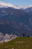 The Summit of Monte Baldo on Lake Garda Italy Stock Images
