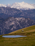The Summit of Monte Baldo on Lake Garda Italy Royalty Free Stock Photos