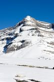 Summit of the Monte Perdido covered with snow Stock Photo