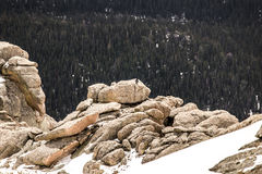 Summit of Mount Evans - Colorado. Summit of Mt Evans. Mount Evans is one of the top travel vacation spots in the USA featuring the highest paved road in the royalty free stock photos