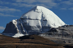 Summit Mount Kailash Tibet Stock Photo