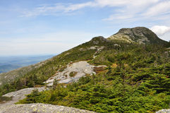 Summit of Mount Mansfield, the highest in Vermont. View of the summit of Mount Mansfield, the highest mountain in Vermont, 4,395 feet above sea level Stock Photos