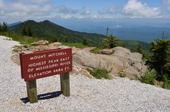 Summit of Mount Mitchell Stock Photos