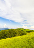 The summit of Mount Pratomagno (Italy). The summit of Mount Pratomagno in Tuscany (Italy). A particular mountain whose peak is constituted by a large lawn area Stock Images