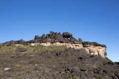 Summit of Mount Roraima, strange world made of volcanic black st Royalty Free Stock Photography