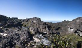 Summit of Mount Roraima, strange world made of volcanic black st Stock Photos
