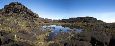 Summit of Mount Roraima, strange world made of volcanic black st Royalty Free Stock Photos
