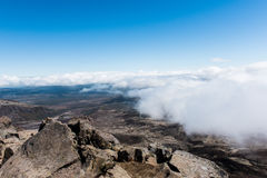 Summit of Mount Tongariro in New Zealand. The summit of Mount Tongariro, reached to by hiking the Tongariro Alpine Crossing in New Zealand Stock Images