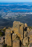 Summit of Mount Wellington overlooking Hobart and the south coast Stock Images