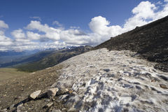 Summit of mount whistler with snow patches Royalty Free Stock Photography