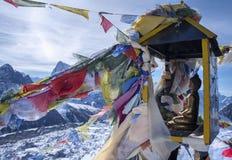 Summit of mountain Gokyo Ri. Himalayas Royalty Free Stock Photography