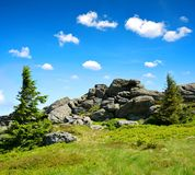 Summit of mountain Grosser Arber, Germany. Royalty Free Stock Photo