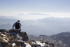 Summit of a mountain Stock Photography