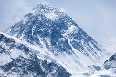 Summit of mt. Everest from Kala Patthar, Solu Khumbu, Nepal. Evening view of summit of mt. Everest from Kala Patthar, Solu Khumbu, Nepal Stock Photos
