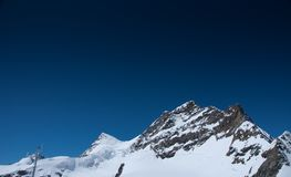 Summit of Mt Jungfrau Stock Image