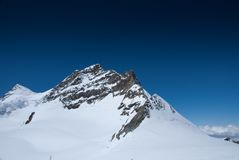 Summit of Mt Jungfrau - Top of Europe Stock Photo