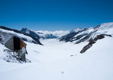 Summit Of Jungfrau - Top Of Europe Stock Photos