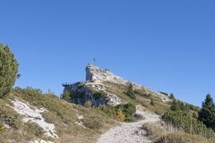 Free Summit Of Pizzo Di Levico With Fort Vezzena Royalty Free Stock Images - 135305999