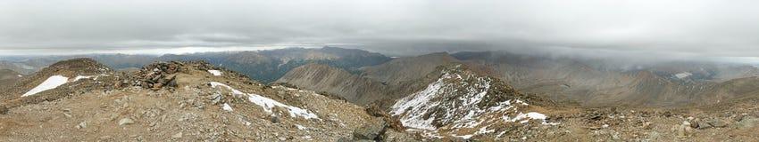 La Plata Peak Summit Panorama Stock Photo