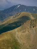 From the summit of Peak 12812, Collegiate Peaks Wilderness, Colorado. Hiking the spine of the Continental Divide in the San Juan Range and Collegiate Peaks Royalty Free Stock Photography