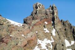 Summit Pinnacle of Three Fingered Jack, central Oregon, USA Royalty Free Stock Image
