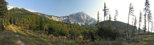Summit of Preiner Wand in Rax Alps Royalty Free Stock Photo