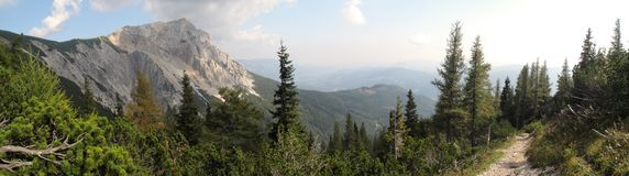 Summit of Preiner Wand in Rax Alps Royalty Free Stock Photography