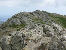 The summit of Punta la Marmora - Gennargentu National Park Royalty Free Stock Photography