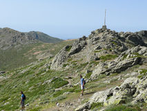 The summit of Punta la Marmora - Gennargentu National Park Royalty Free Stock Photo