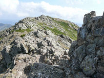 The summit of Punta la Marmora - Gennargentu National Park Stock Photo