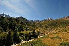 Panorama landscape high mountains in South Tyrol Italy europe