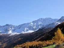 Summit rock panorama landscape of the mountains in South Tyrol Italy europe in autumn. Europe italy South Tyrol mountains summit rock panorama landscape nature royalty free stock image