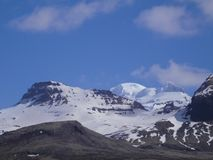 summit Rocky Mountains Cover With Snow e gelo imagem de stock royalty free