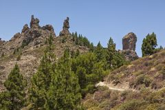 Summit of Roque Nublo, Grand Canary Royalty Free Stock Photography