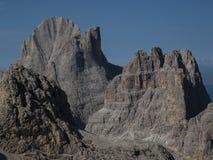 Summit of Rosengarten, Catinaccio. Rosengarten mountain top from the Grasleitenpass Stock Images