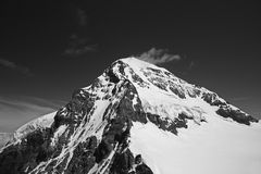Summit Of The Rottalhorn, Jungfrau Region. Snow capped peak of the Rottalhorn, located in the Jungfrau region of Switzerland stock photography