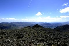 Summit of Scafell Stock Images
