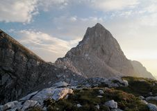 Summit of Slemenova spica in Julian Alps Stock Photo