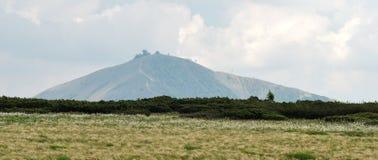 Summit of Snezka mountain in Krkonose Stock Photography