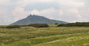 Summit of Snezka mountain in Krkonose Royalty Free Stock Photo