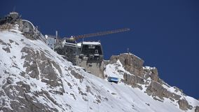 Zugspitze peak, summit station stock video