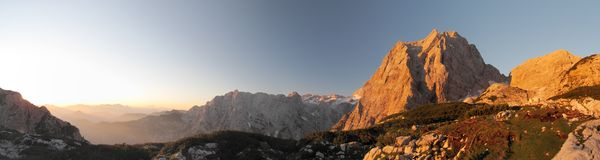 Summit of Stenar in Julian Alps Royalty Free Stock Photography