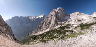 Summit of Stenar in Julian Alps Stock Photography