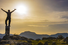 Summit a success, and happiness Stock Images