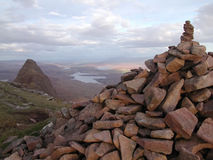 Summit of Suilven. Evening light on the summit of Suilven Stock Images